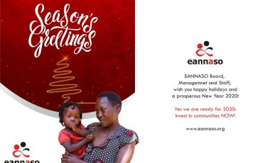 Season's Greetings and Best Wishes for the New Year to EANNASO Members, Civil Society,  Communities and Partners.
